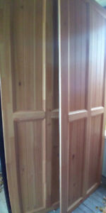 1.5 m wide Ikea PAX closet with solid wood doors!