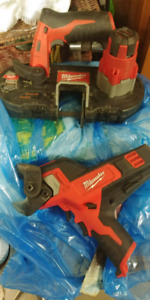 Milwaukee m12 cable cutters and bandsaw