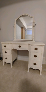 Charming antique vanity/desk with chair