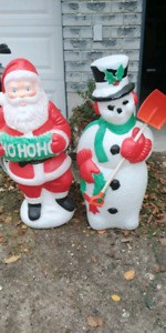 Santa Claus and Frosty