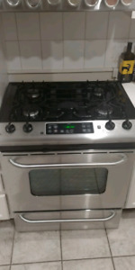 Stainless Steel Slide-in Gas Stove