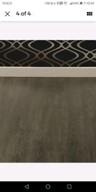 Dark oak luxury vinyl tiles, 2.95m per pack