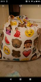 Large emoji beanbag