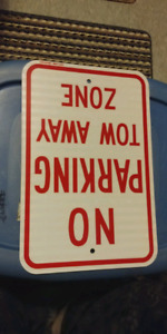 """No Parking Tow Away Zone"" Sign - 12 x 18"""