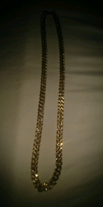 "Cuban link chain 180 gram 30"" -14k Gold Plated"