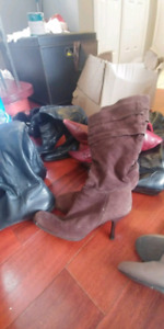 6 PAIRS OF LADIES BOOTS FOR SALE MUST GO