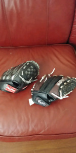 Kids used baseball gloves