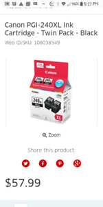 3 Brand new.. Canon PG-240 XL, Black ink cartridges for sale...