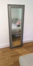 Beautiful full length grey mirror in fulham