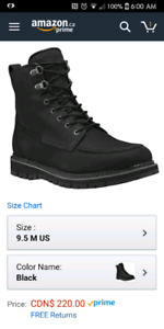 New black timberland boots 9.5 mens