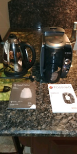Tassimo coffee maker, Hobbs electric kettle