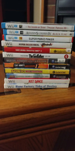 Games for Sale! Wii, Wii U, Game Cube