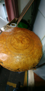 MOROCCAN POUF (FOOT STOOL) ALL LEATHER 50.00