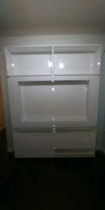 White entertainment cabinet
