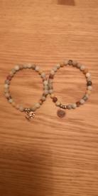 Gemstone bracelet, set of two