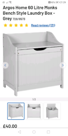Linen Storage Box grey only £30. Real Bargains Clearance Outlet Leices