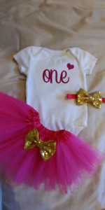 Girl's 1st Birthday Outfit