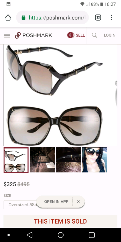GUCCI Bamboo Effect Sunglasses GG 3508/S Brown 223771 | in Poole, Dorset |  Gumtree