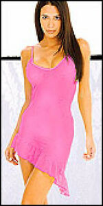 Baby Pink sexy sheer outfit dress evening wear or lingerie
