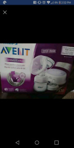 Two Avent single electric breast pumps and more