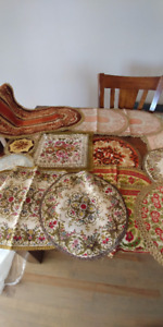 ANTIQUE TABLE MATS AND RUNNERS