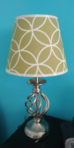 Two lamps with shades like new
