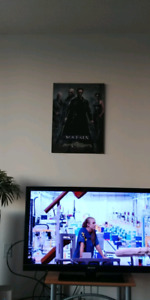 The Matrix original movie poster (mounted on wood)