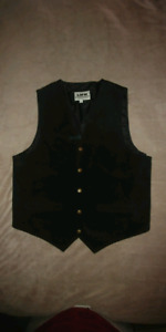 Black Suede Vests