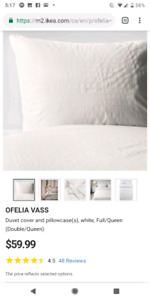 Duvet and cover 2x pillow cases queen