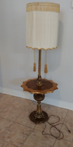 Vintage Unique Floor Lamp with Table and Tassels