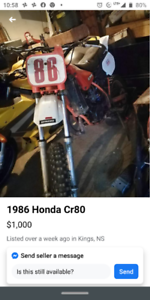 *Help please*  Looking for an XR 80 or something similar!!