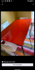Beautiful red table and chairs