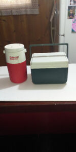 COLEMAN THERMOS AND COOLER