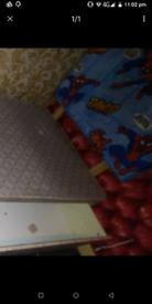Single divan bed with Spiderman headboard