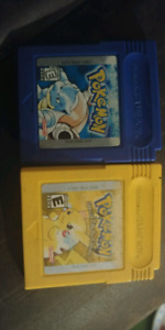 Pokemon Yellow and Blue
