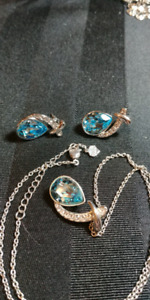 Blue stone on silver.
