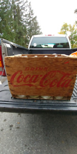 Coke case and bottles