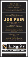 Job Fair for Integrity Tool & Mold, Inc.