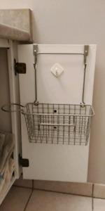 Cupboard door bathroom organizer