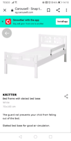 Ikea toddler bed excellent condition
