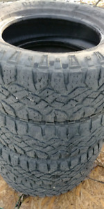 Set of 4 275/65/18, Goodyear Wrangler Duratrac's.