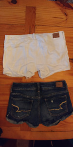 American Eagle jean shorts and tops