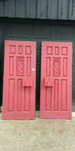 Matched set of Solid Wood Doors