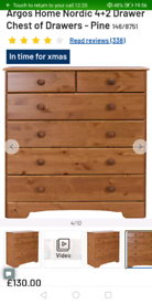 Nordic 6 Drawers pine chest only £80. Real Bargains Clearance Outlet