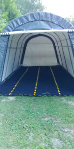 Portable Fabric Buildings - Storage Shelters Temporary Mats