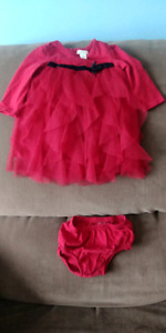 Christmas or holiday photo dress for 3 to 6 month