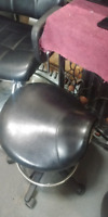 Hairdressing chair,  cutting stool and mirror for sale