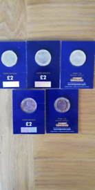 Two pound coins.