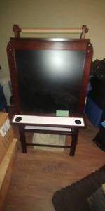 Easel with chalkboard and whiteboard