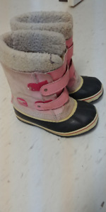 Sorel Children's 1964 Pac Strap snow boot, pink, leather,size 13